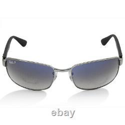 Ray-Ban RB3478 004/78 Silver/Grey-Blue Men's Polarised Metal Sunglasses