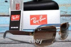 Ray-Ban RB3530 001/13 Gold Brown Gradient Men's Sunglasses 58mm Arista