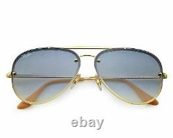 Ray-Ban RB3584N BLAZE AVIATOR 001/19 Gold, Light Blue Gradient Unisex Sunglasses