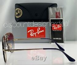 Ray-Ban RB3584N Blaze Aviator Sunglasses 9140/0U Gold Frame Violet Gradient Lens