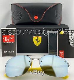 Ray-Ban RB3617M Ferrari Sunglasses F003H1 Gray Silver Silver Mirror POLARIZED 62