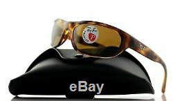 Ray Ban RB4033 642/47 60MM Polarized Genuine Predator Tortoise Wrap Sunglasses