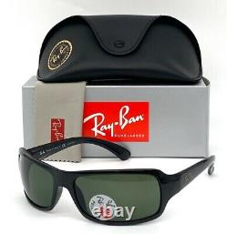 Ray Ban RB4075 601/58 Polished Black / Green Polarized 61mm Sunglasses