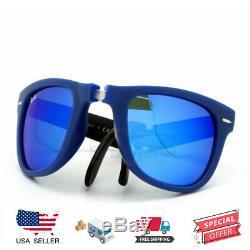 Ray-Ban RB4105 6020/17 Folding Wayfarer Matte Blue 50-22 100% Authentic