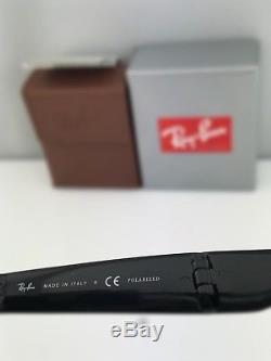 Ray-Ban RB4105 Folding Wayfarer Polarized Sunglasses 601/58 Black Frame Green 50