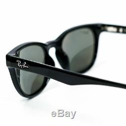 Ray-Ban RB4140 Polarized Sunglasses Black/Crystal Green