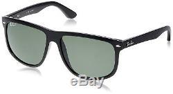 Ray-Ban RB4147 Polarized Sunglasses Black/ Green Classic 60mm