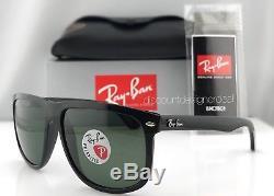 Ray-Ban RB4147 Polarized Sunglasses Large Black Frame 601/58 Green Lenses 60mm