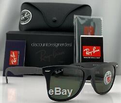Ray-Ban RB4195 Liteforce Wayfarer Sunglasses 601S9A Matte Black Green POLARIZED