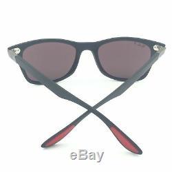 Ray-Ban RB4195MF F602/H2 Scuderia Ferrari Black Sunglasses Silver Chromance