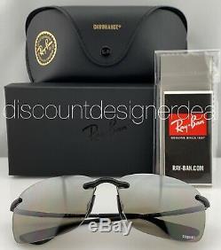 Ray-Ban RB4255 6015J Frameless Sunglasses Silver Mirror Polarized Chromance 60mm