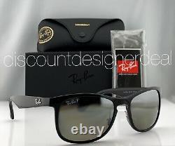 Ray-Ban RB4263 Sunglasses 6015J Shiny Black Silver Mirror POLARIZED Lens 55mm