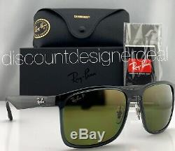 Ray-Ban RB4264CH Sunglasses 876/6O Gray Transparent Green Mirror POLARIZED 58mm