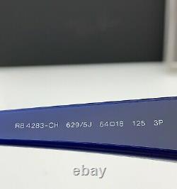 Ray-Ban RB4283CH Sunglasses 629/5J Blue frame Silver Mirror POLARIZED Chromance