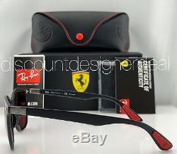Ray-Ban RB4297M Ferrari Sunglasses F602/H2 Matte Black Silver Mirror Polarized