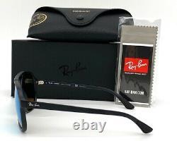 Ray Ban RB4312CH 601SA1 Matte Black /Green Blue Mirror Polarized 57mm Sunglasses