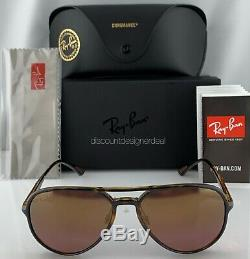 Ray-Ban RB4320CH Aviator Sunglasses 710/6B Tortoise Gold Mirror POLARIZED Lenses