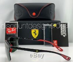 Ray-Ban RB4322M Ferrari Frameless Sunglasses F601/71 Black Classic Green Lens 63