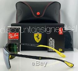 Ray-Ban RB4322M Ferrari Rimless Sunglasses F624/H1 Gray Silver Mirror POLARIZED