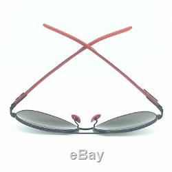 Ray-Ban RB8313M F009/6G Scuderia Ferrari Black Red Sunglasses Grey Mirror Lens
