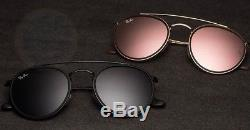 Ray-Ban Round Double Bridge Black Frame Blue/Grey Lens RB3647N 002/R5 51-22