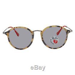Ray Ban Round Fleck Grey Polarized Round Unisex Sunglasses RB2447F 1247P252