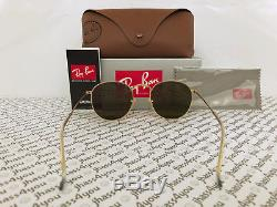 Ray-Ban Round Metal Sunglasses RB3447 112/Z2 Gold Frame/Copper Flash Lens 50mm