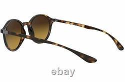 Ray-Ban Round Women's Sunglasses RB4237 Havana With Brown Gradient Dark Brown