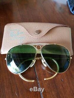 Ray Ban SHOOTER Bausch & Lomb Aviator 1/10 12K GF sunglasses eyeglasses B & L