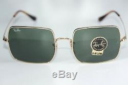 Ray Ban SQUARE Sunglasses RB1971 914731 Gold Frame With Green G-15 Lens BRAND NEW