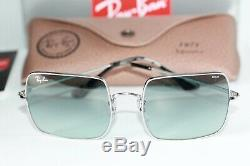 Ray Ban SQUARE Sunglasses RB1971 9149AD Silver With Light Blue PHOTOCHROMIC Lens