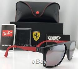 Ray-Ban Scuderia Ferrari Sunglasses RB4309M Black Silver Polarized Lens F602/H2
