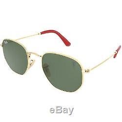 Ray-Ban Scuderia RB3548NM -F00831-51 Gold Geometric Sunglasses