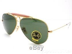Ray Ban Shooter RB 3138 001 Gold G15 Green New Authentic Sunglasses