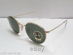 Ray-Ban Sunglasses 3447 001 50 Gold Green Classic Round Unisex Retro BRAND NEW