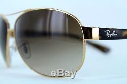 Ray-Ban Sunglasses Aviator 3386 001/13 63 Gold / Tortoise Brown New & Original