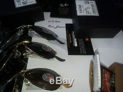 Ray Ban Sunglasses Aviator Ultra Folding Rb3479kq 003/n4 Gold Trio Le Pilot New