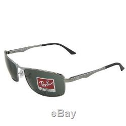 Ray-Ban Sunglasses Gunmetal 3498 004/71 Frame Green Men NEW & 100% Original