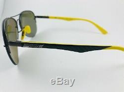 Ray Ban Sunglasses RB 3460 M F003/H0 Yellow Gunmetal Ferrari Polarized Aviator