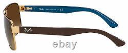 Ray-Ban Sunglasses RB 3530 001/13 58 Gold Brown Gradient Dark Brown Lens