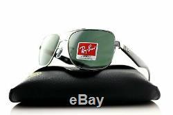 Ray Ban Sunglasses RB3483 004/71 Gunmetal & Black Frame With Green Lens BNIB