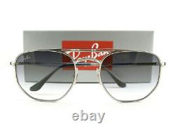 Ray-Ban Sunglasses RB3609 Silver Blue 9142/0S New Authentic