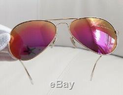 Ray-Ban Sunglasses Women Aviator Pink Mirror USA
