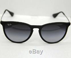 Ray-Ban Sunglasses Women Gradient Erika RB4171-622/8G-54 Black Round NEW & ORG