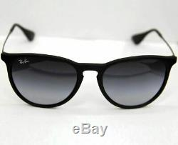 Ray-Ban Sunglasses Women Gradient Erika RB4171 622/8G-54 Black Round NEW & ORG