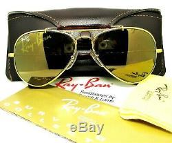 Ray-Ban USA Vintage B&L Aviator Diamond Hard Survivor W1506 Tortuga Sunglasses