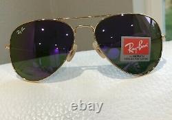 Ray-Ban Unisex Mirror Aviator VIOLET PURPLE Sunglasses USA