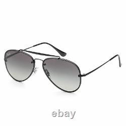 Ray-Ban Unisex RB3584N-153-11 Fashion 58 mm Demi Gloss Black Frame Sunglasses