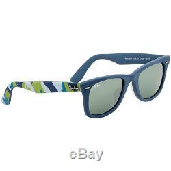 Ray-Ban Wayfarer 52 mm Camo Blue Fabric Frame Sunglasses RB2140F