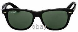 Ray-Ban Wayfarer Black Polarized Sunglasses RB2140 901/58 50mm New Authentic